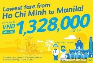 Khuyến mãi Cebu Pacific – Mua vé máy bay đi Manila đón Tết Trung Thu