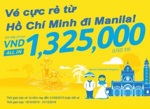 Thỏa sức vui chơi tại Manila với khuyến mãi Cebu Pacific
