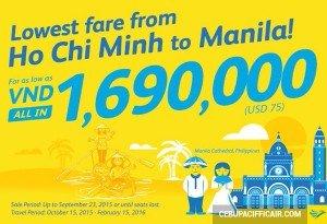 Khuyến mãi Cebu Pacific bay đến thiên đường biển Manila