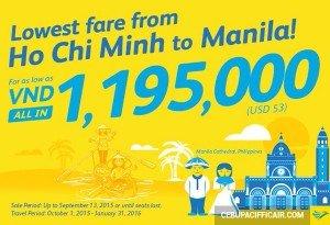 Khuyến mãi Cebu Pacific tiếp tục giảm giá vé máy bay đi Manila