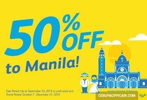 Khuyến mãi cực hot – Giảm 50 % giá vé máy bay đi Manila